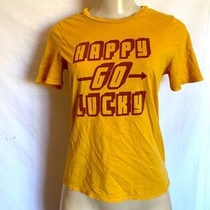 Urban outfitters HAPPY GO LUCKY SHIRT SIZE M